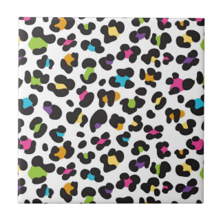 Colorful Cheetah Leopard Print Gifts for Teens Tile