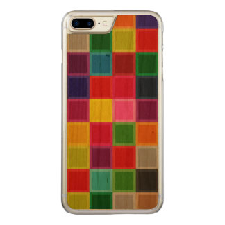 Colorful Cherry Wood Carved iPhone 7 Plus Case