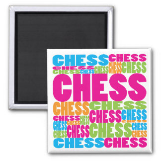 Colorful Chess Square Magnet