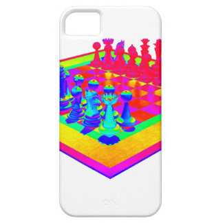 Colorful Chessboard & Chess Pieces iPhone 5 Cover