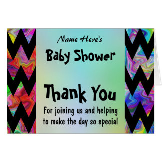 Colorful Chevron Baby Shower Card