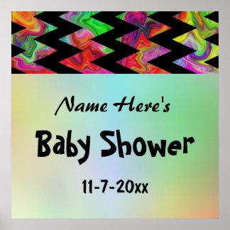 Colorful Chevron Baby Shower Print