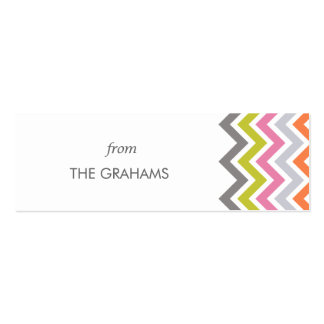 Colorful Chevron Custom Gift Tags Business Cards
