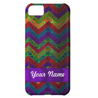 Colorful chevron damask pattern iPhone 5C case