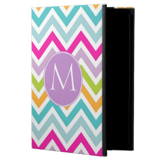 Colorful Chevron Monogram iPad Air Case