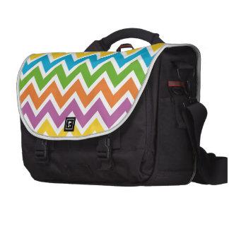 Colorful Chevron Pattern Bag Laptop Commuter Bag