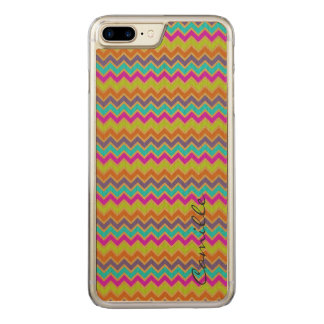 colorful chevron pattern by name carved iPhone 8 plus/7 plus case
