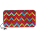 Colorful Chevron Pattern iPhone Speakers