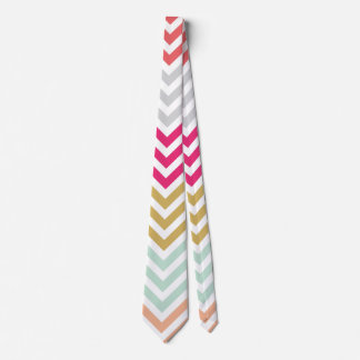 Colorful Chevron Pattern Tie