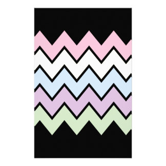 COLORFUL CHEVRON PERSONALISED STATIONERY