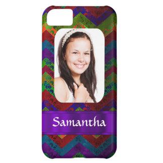 Colorful chevron photo template iPhone 5C case