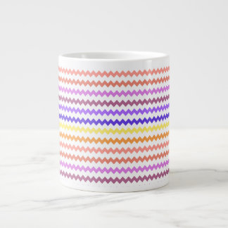 Colorful Chevron Zig Zag Large Coffee Mug
