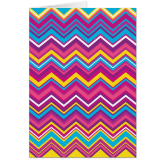 Colorful Chevron Zig Zag Pattern Greeting Card