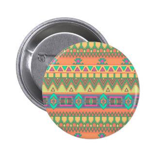 Colorful Chevron Zig Zag Tribal Aztec Ikat Pattern 6 Cm Round Badge