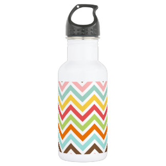 Colorful Chevron Zigzag Stripes Pattern 532 Ml Water Bottle