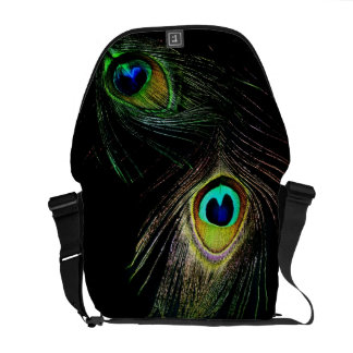 Colorful Chic Photography Peacock Feathers Photo Commuter Bags