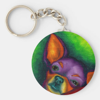 Colorful Chihuahua Key Ring