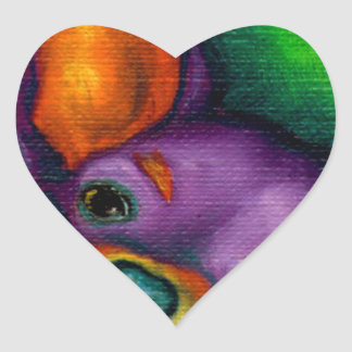 Colorful Chihuahua Heart Stickers