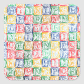 Colorful  Children's Blocks Square Sticker