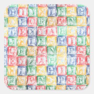 Colorful  Children's Blocks Square Sticker