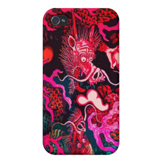 Colorful chinese dragon art iPhone 4 case