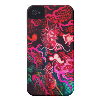 Colorful chinese dragon art iPhone 4 cover