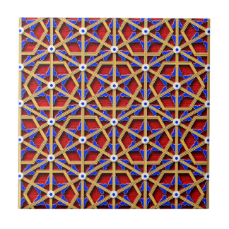 Colorful chinese geometric pattern tile