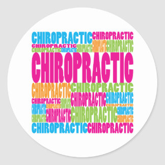 Colorful Chiropractic Classic Round Sticker