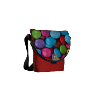 Colorful Chocolate Buttons Courier Bags