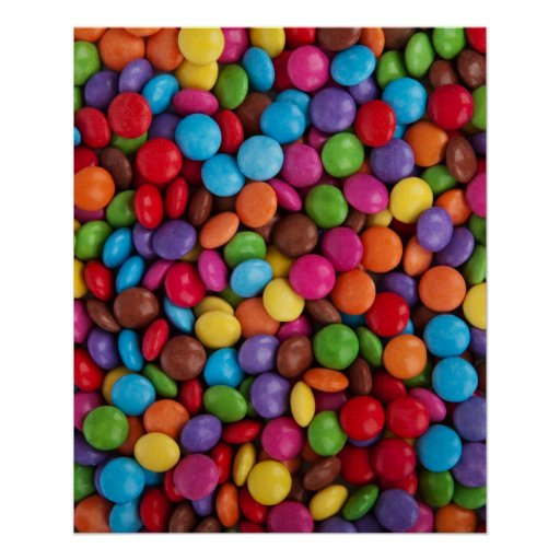 Colorful Chocolate Buttons Poster