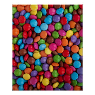Colorful Chocolate Buttons Print