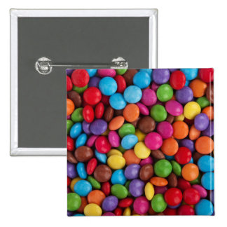 Colorful Chocolate Candy 15 Cm Square Badge