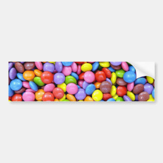 Colorful Chocolate Candy Pattern Bumper Sticker