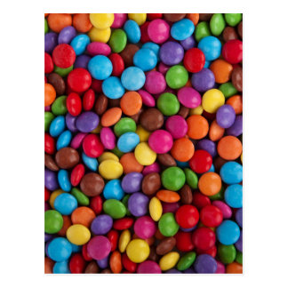 Colorful Chocolate Candy Post Card