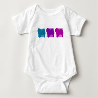 Colorful Chow Chow Silhouettes Baby Bodysuit