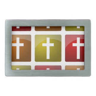 Colorful Christian Crosses Belt Buckles
