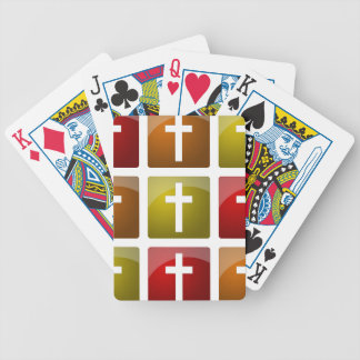 Colorful Christian Crosses Bicycle Poker Deck