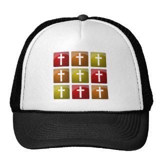 Colorful Christian Crosses Cap