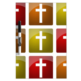 Colorful Christian Crosses Dry-Erase Whiteboards