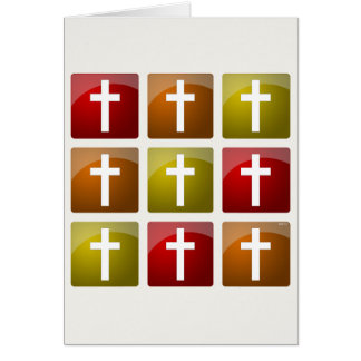 Colorful Christian Crosses Greeting Card