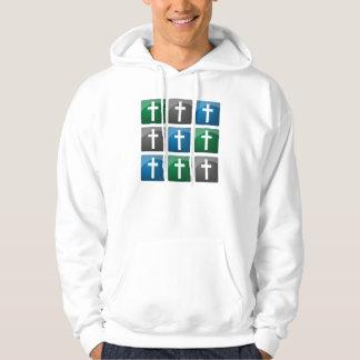 Colorful Christian Crosses Hoodie