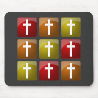 Colorful Christian Crosses Mouse Pads