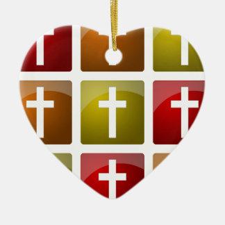Colorful Christian Crosses Ornaments