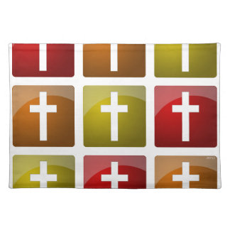 Colorful Christian Crosses Place Mat