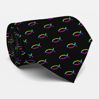 Colorful Christian Fish Pattern | Inspirational Tie
