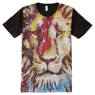 Colorful Christian Lion Oil All-Over Print T-Shirt