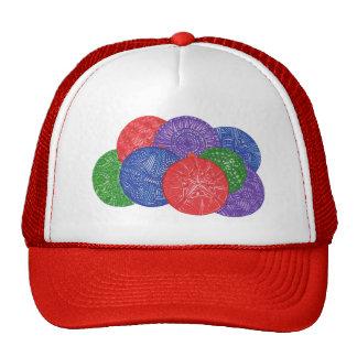 Colorful Christmas balls - abstract hats