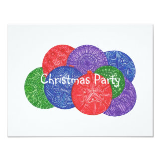 Colorful Christmas balls - party invitations