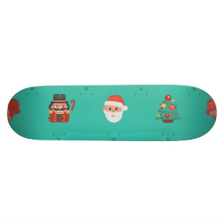 Colorful Christmas Characters Seamless Pattern Skate Board Decks