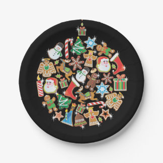 Colorful Christmas Cookie Ornament Paper Plate
